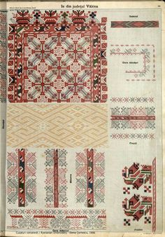 Folk Embroidery, Learn Embroidery, Embroidery Patterns, Cross Stitch Patterns, Textile Patterns, Beading Patterns, Textiles, Scandinavian Embroidery, Palestinian Embroidery