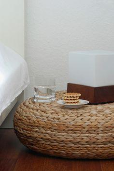 ikea wicker pouf: perfect urban  floor pillow