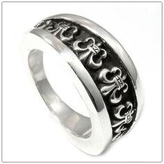 66b536193f15 CHROME HEARTS RING V-BAND BS FLEUR - Chrome Hearts Ring - Chrome Hearts  Jewelry