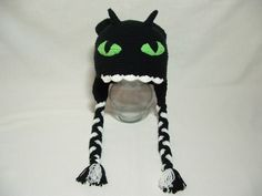 Crochet How to train your Dragon Nightmare Hat Girl or Boy.. $21.00, via Etsy.