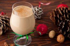 Dairy-free Eggnog, HealthfulPursuit (egg yolks, unsweetened vanilla almond milk, coconut milk, palm sugar, vanilla extract, nutmeg, cinnamon, allspice)