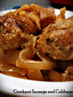 crockpot sausage and potatoes