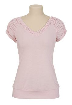 Ruched Banded Bottom Tee - maurices.com