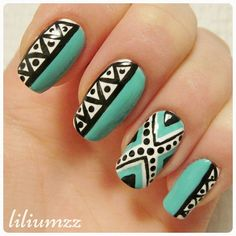Tribal nails ❤ Check out my instagram @liliumzz   design inspired by @livnails22. #aztecnails #aztec #aztecdesign #nail #nails #nailart #naildesign#nailpolish #nailstagram #manicure #mani #neglelakk#nagellack #nailspiration #nagellack  #notd #nailsoftheday #liliumzz #cutenails #cutemani #nails2inspire #tribal #tribalprint #tribalnails #zigzag #zigzagnails #zigzagpattern