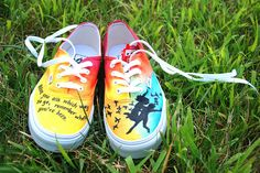 beautiful All Time Low inspired vans