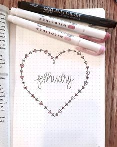 Cute intro doodle for February.