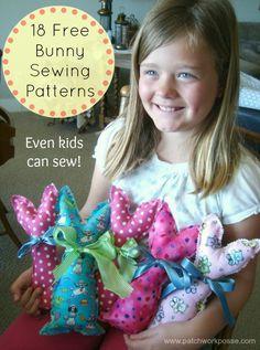 18 + Free Bunny Patterns & Tutorials