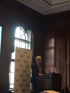 "We're at the #fsb_policy event. #jeremycorbyn says: ""a Labour government will declare war on late payments"""