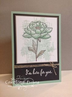You Got This in Mint Macaron - Large Flower using Stampin' Up! products from the NEW 2015-2016 Annual catalogue. 2015-2017 In Colors Created by Carolina Evans. #stampinup