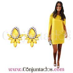 Pendientes Nadine amarillos ★ 12'95 € en https://www.conjuntados.com/es/pendientes-nadine-amarillos.html ★ #novedades #pendientes #earrings #conjuntados #conjuntada #joyitas #lowcost #jewelry #bisutería #bijoux #accesorios #complementos #moda #eventos #bodas #invitadaperfecta #perfectguest #party #fashion #fashionadicct #outfit #estilo #style #streetstyle #casualstreet #spain #GustosParaTodas #ParaTodosLosGustos