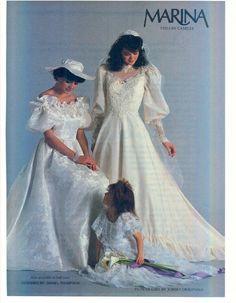 80s wedding fashions