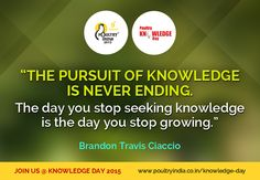 Get all the essential knowledge about 'Poultry Industry' only at Poultry India , Knowledge Day.  Register Today for Knowledge Day 2015 - http://www.poultryindia.co.in/knowledge-day/