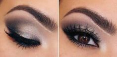 Grey smokey eyes- grey looks amazing on brown yes