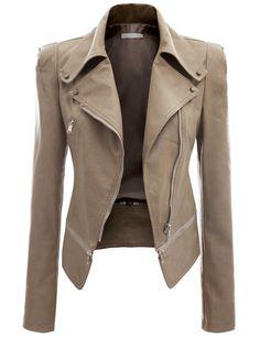 3b6be397534 Doublju Women's Faux Leather Power Shoulder Jacket at Amazon Women's Coats  Shop Stylish Coat, Latest