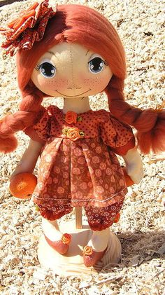 Коллекционные куклы ручной работы. Ярмарка Мастеров - ручная работа Коллекционная кукла  Мандаринка. Handmade.