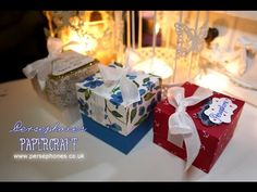 Lidded Box with Permanent Ribbon | Stampin' Up (UK) with Persephone's Papercraft - YouTube