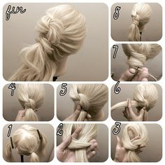 Love this in and out twisted Updo ponytail. Not sure what to call it.