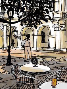 La plaza. Barcelona.