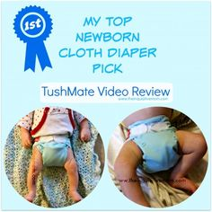 My Top Newborn Cloth Diaper Pick TushMate Video Review