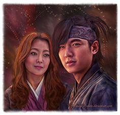 Faith ♥ Starring: Lee Min Ho as Choi Young ♥ Kim Hee Sun as Yoo Eun Soo <3 fan art