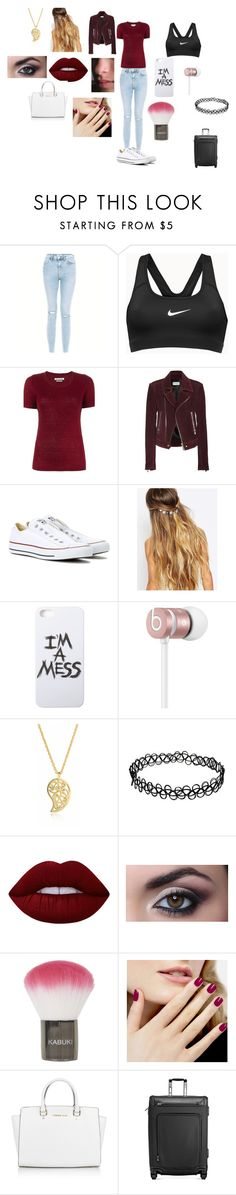 """""""Untitled #2"""" by abbie-louise-cooze on Polyvore featuring NIKE, Étoile Isabel Marant, Balenciaga, Converse, Johnny Loves Rosie, LAUREN MOSHI, Beats by Dr. Dre, Sonal Bhaskaran, Lime Crime and Topshop"""