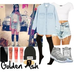 shorts high waisted short outfit shirt black shoes jacket long sleeve jewels white blouse swag girl crop tops dope dope as f*** street style. Dope Outfits, Swag Outfits, Short Outfits, Summer Outfits, Chill Outfits, Cute Fashion, Teen Fashion, Fashion Outfits, Womens Fashion