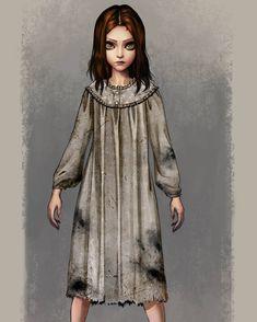Dark Alice In Wonderland, Adventures In Wonderland, Arte Horror, Horror Art, Game Character, Character Design, Alice Liddell, Shadow Of The Colossus, Alice Madness Returns