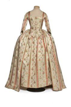 Robe à l'anglaise, 1780-85 France, Les Arts Décoratifs