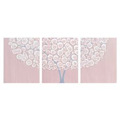 SALE  Nursery Painting for Baby Girl  Large Pink and by Amborela, $162.00