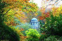 Autumn at Stourhead Wiltshire by ByGaddArtandDesign on Etsy