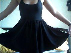Black Nylon Tricot Figure Skater Dress by #AmericanApparel #dress #originalpicture #springbreak #PinATripWithAA