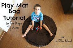 Play Mat Bag Tutorial - The Ribbon Retreat Blog