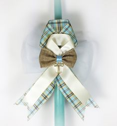 Plaid Greek Easter Candle Lambatha by EllinikiStoli on Etsy