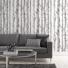 Birch Trees Wallpaper - Double roll/Wallpaper/Wall Decor Bouclair.com
