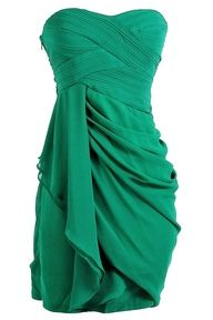 Draped Chiffon Dress. Don't like the color but the dress is beautiful