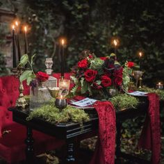 A darkly romantic wedding inspired by Edgar Allan Poe. Photos by Tashana Klonius.
