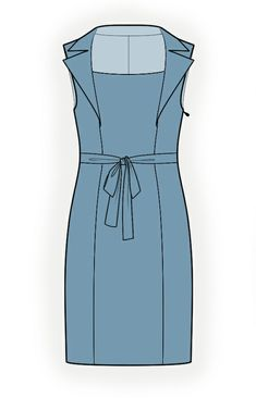 Dress With Collar From Front Seams - Sewing Pattern #4378