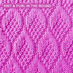 The Pine Cone stitch pattern is worked on circular knitting needles and created with knit and purl stitches. Knit Purl Stitches, Dishcloth Knitting Patterns, Knitting Stiches, Knit Dishcloth, Circular Knitting Needles, Knitting Charts, Loom Knitting, Crochet Patterns, Crochet Afghans