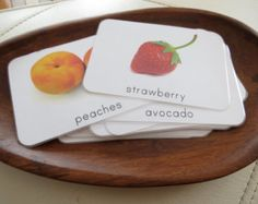 Fruit- Montessori Toddler Language Cards- Fruit Set
