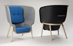 Designer Benjamin Hubert has created a chair with the specific purpose of enabling personal space in public areas.