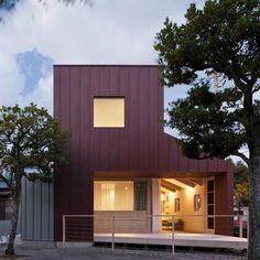 Minimalistic Steel-clad House in Fukuoka, Japan