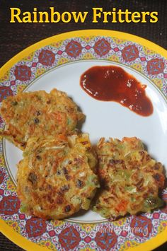 Rainbow Fritters Recipe - Summer Vacation with Kids