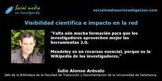 Charla con Julio Alonso Arévalo sobre visibilidad científica e impacto en la red. #Mendeley #AccesoAbierto #ORCID #ImpactoCientífico