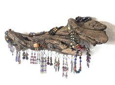 Driftwood Jewelry Organizer Rustic Earring Tree Earring