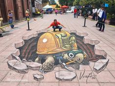 Artist Juandres Vera was born in 1980 is a painter, muralist and street painter, currently based in Monterrey, Mexico who creates amazing street art. Dachshund, 3d Street Art, Mexican Artists, Mural Painting, Paintings, Graffiti Art, Artwork, Animals, Murals