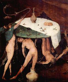 H Bosch, The Temptation of Saint Anthony, detail