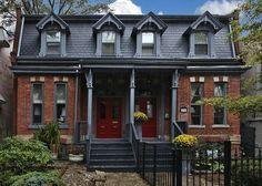 Dark Red Brick Homes Red Brick With Dark Gray Trim