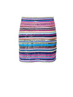 Love Love Love this!! Sequinned striped skirt