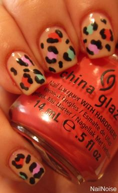 Spring leopard print nails so doing this Super Cute Nails, Great Nails, Love Nails, How To Do Nails, Fun Nails, Beauty Book, Beauty Tips, Finger Fun, Leopard Print Nails