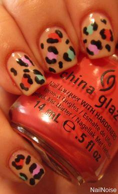 Spring leopard print nails